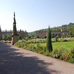 "Motorhome Tour ""Germany's Romantic Road"", Castle gardens Weikersheim"