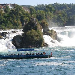 Visit to the Rhinefall in Schaffhausen, Switzerland