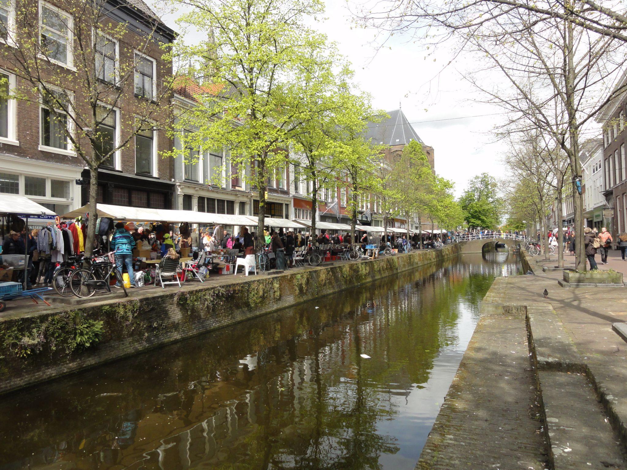 Flea Markets in Delft during Kingsday