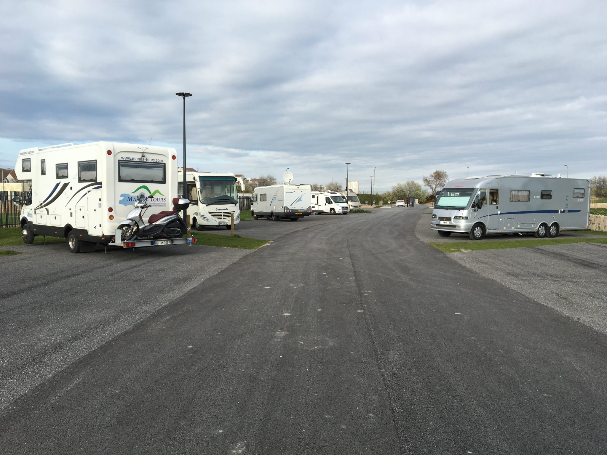 New Aire in Calais before Sprintime in Holland Tour 2017
