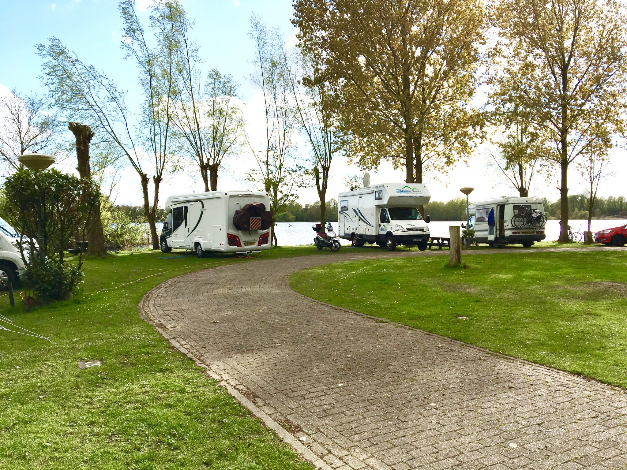 Campsite Amsterdam next to the lake Springtime in Holland escorted motorhome tour 2017