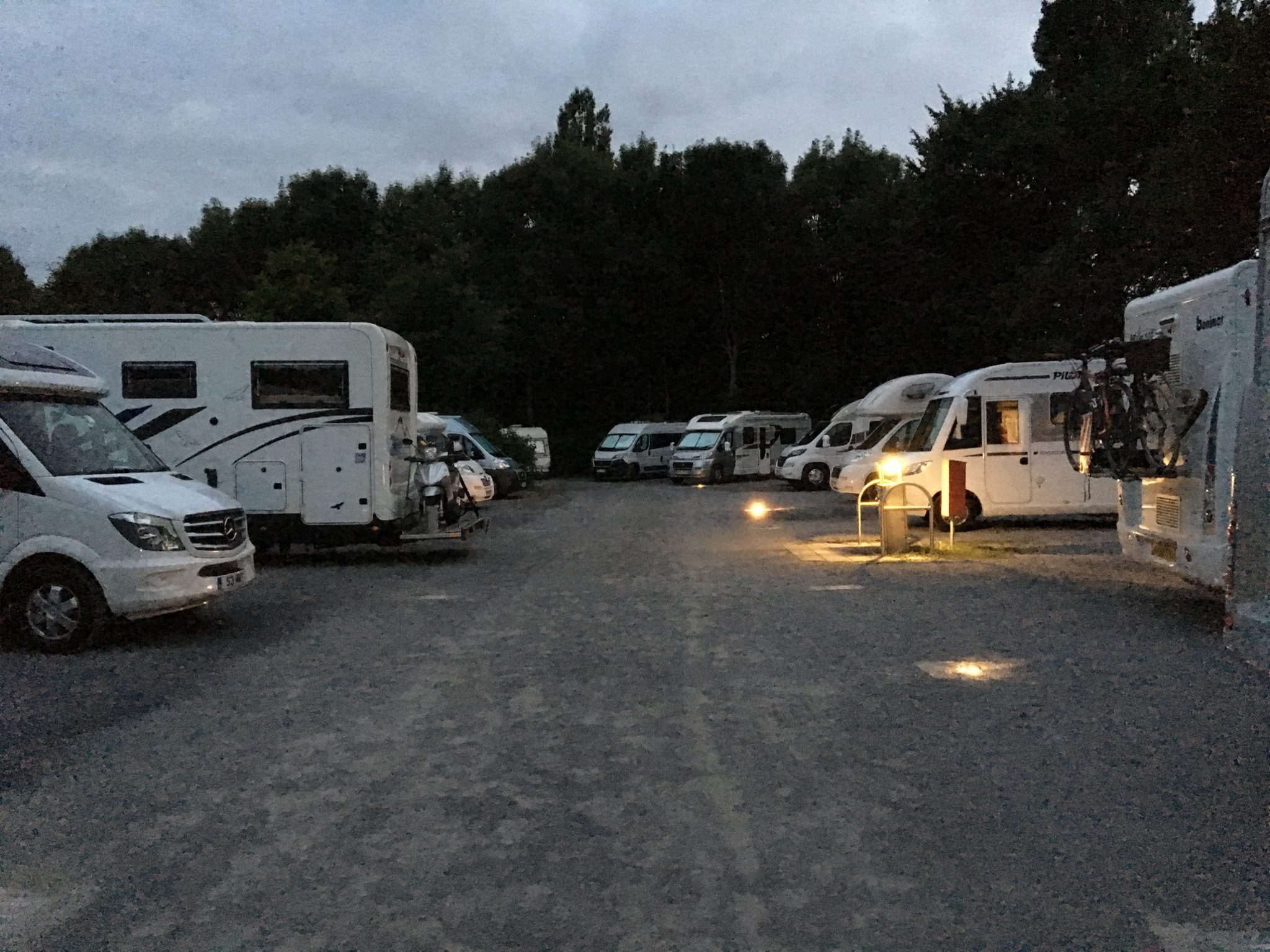 Motorhomes at campsite in Aachen 2017