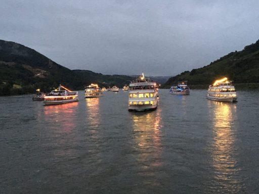 Rhine in Flames boats