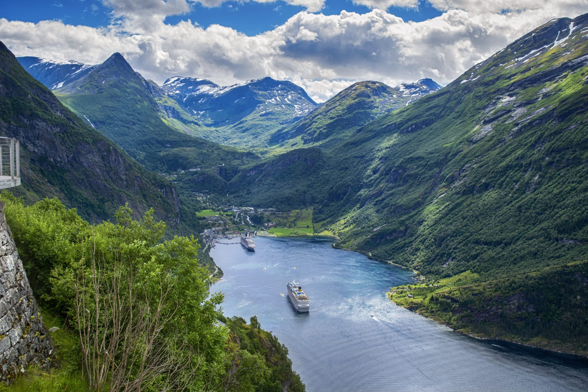 Geiranger Fjord with Cruise Ships